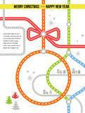 Travel in Christmas - vector background Stock Photography