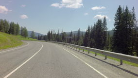 Travel on Chuysky Trakt through pass Seminsky stock video footage
