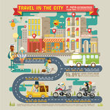 Travel in the City Infographics Stock Photography