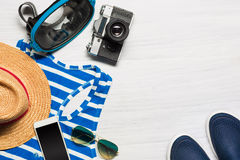 The travel and clothing accessories apparel along for the men Stock Image