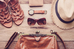 Travel Clothing accessories Apparel for travel. Travel Clothing accessories Apparel for travel Stock Image