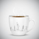 Travel with Coffee Royalty Free Stock Photo