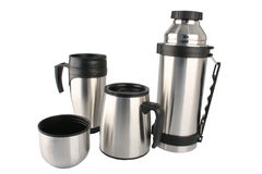 Travel Coffee Set Stock Photos