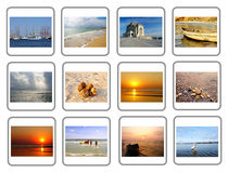Travel Collage of Constanta City in Romania stock photography