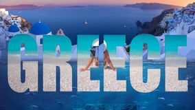 Greece popular travel destination in Europe royalty free illustration