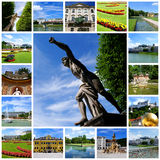 Travel collage - Salzburg City Royalty Free Stock Images