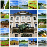 Travel collage - Salzburg City Royalty Free Stock Image