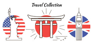 Travel collection Stock Photo