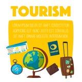 Travel collection. Vacation theme. Cartoon vector illustration. Stock Photos