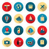 Travel color icons Royalty Free Stock Photos