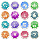 Travel color icons. Stock Image