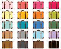 Travel color stylized suitcases Stock Image