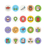 Travel Colored Vector Icons 7 Stock Images