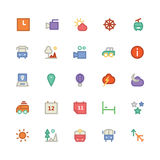 Travel Colored Vector Icons 3 Stock Photography