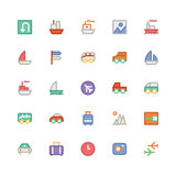 Travel Colored Vector Icons 2 Royalty Free Stock Image