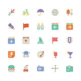 Travel Colored Vector Icons 4 Royalty Free Stock Photography