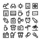 Travel Colored Vector Icons 5 Royalty Free Stock Images