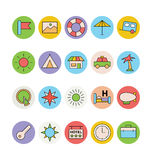 Travel Colored Vector Icons 4 Stock Photo