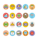 Travel Colored Vector Icons 7 Royalty Free Stock Photo