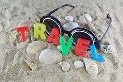 Travel colorful text Royalty Free Stock Photography