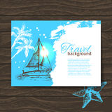 Travel colorful tropical design Stock Image