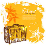 Travel colorful tropical design Stock Photos