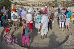 Travel company in Israel on the Temple Mount Stock Images