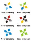 Company logo design. Company logo with four arrows in multiple colours Stock Image