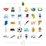 Travel, computer, transportation and other web icon in cartoon style.sport, weapons, medicine icons in set collection. Travel, computer, transportation and Royalty Free Stock Photos