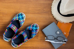 Travel concept with accessaries Stock Photography