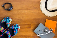 Travel concept with accessaries Stock Photos