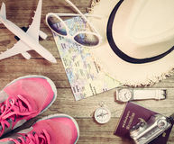 Travel concept with accessory Royalty Free Stock Image