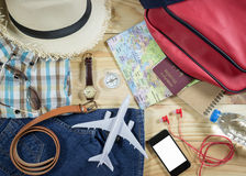 Travel concept with accessory Royalty Free Stock Images