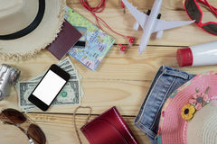 Travel concept with accessory Stock Photography