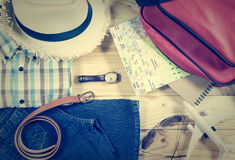 Travel concept with accessory Stock Image