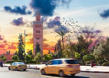 Koutoubia mosque, Marrakesh, Morocco. Royalty Free Stock Photography