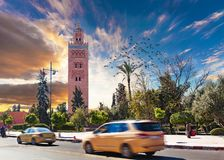 Koutoubia mosque, Marrakesh, Morocco. Stock Photography