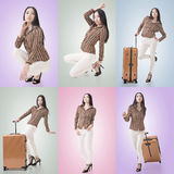 Travel concept with Asian beauty Stock Photography