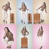 Travel concept with Asian beauty Royalty Free Stock Photo