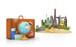 Travel concept. Attractions of the world. Stock Photos