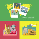 Travel concept banners set in flat design Royalty Free Stock Photography