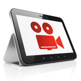 Travel concept: Camera on tablet pc computer Stock Images