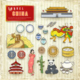 Travel concept of China Royalty Free Stock Photos