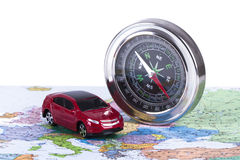 Travel Concept with Compass Royalty Free Stock Image