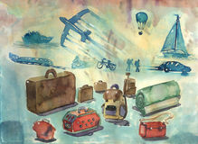 Travel concept design Royalty Free Stock Photo