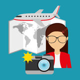 Travel concept design. Illustration eps10 graphic royalty free illustration