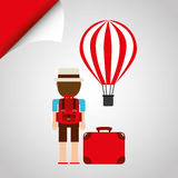 Travel concept design. Travel concept  design,  illustration eps10 graphic Royalty Free Stock Images