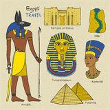 Travel concept of Egypt Stock Photography