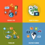 Travel concept flat icons composition Stock Photography