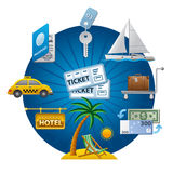 Travel concept icon Stock Image